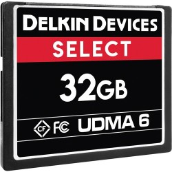 Delkin Devices 32GB SELECT UDMA 6 CompactFlash Memory Card