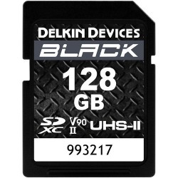 Delkin Devices 128GB BLACK UHS-II SDXC Memory Card