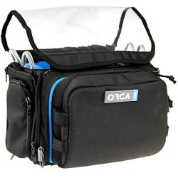ORCA OR-28 Mini Audio Bag for ZOOM F8, Zaxcom Max, Tascam DR70 & Other Recorders